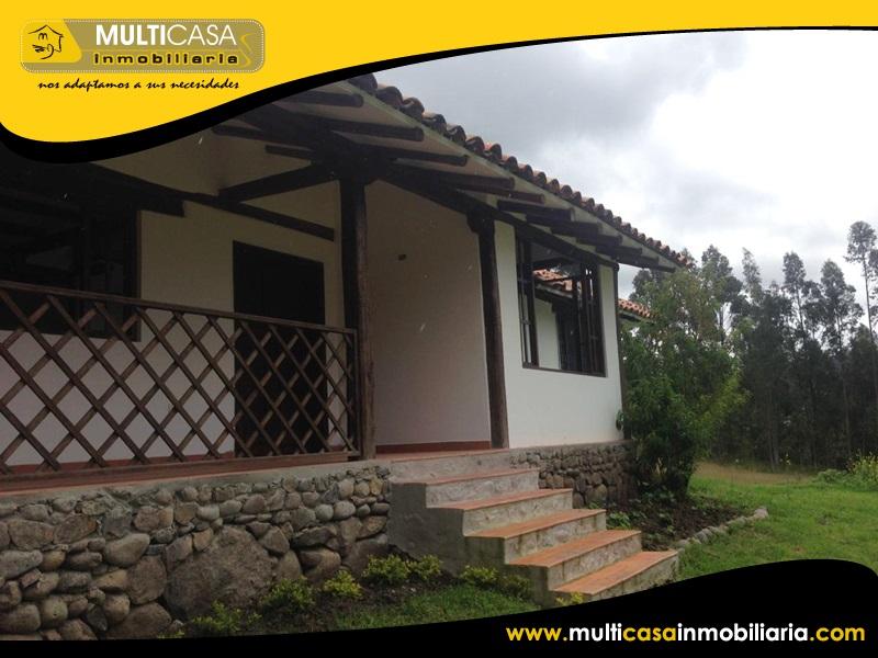 Casa con 19.500 m2 de Terreno en Venta a Crédito Sector Sidcay Cuenca-Ecuador