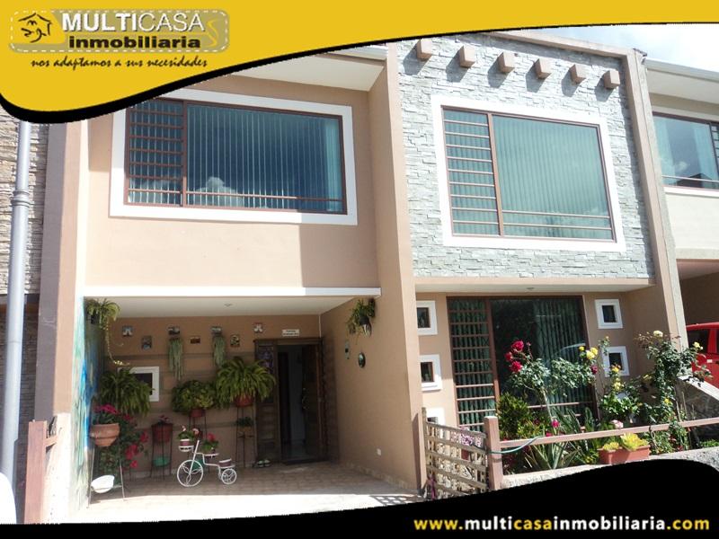 Casa en Condominio Privado en Venta a Crédito Sector Quinta Chica Cuenca-Ecuador