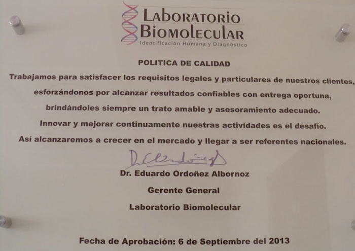 Laboratorio Biomolecular