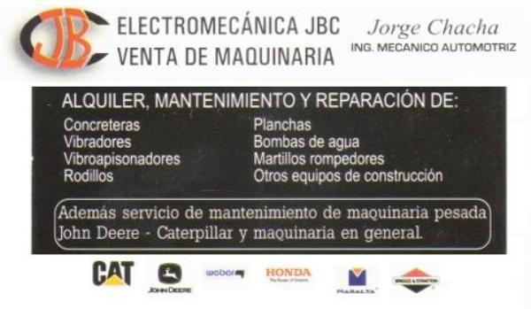 ELECTROMECANICA JBC