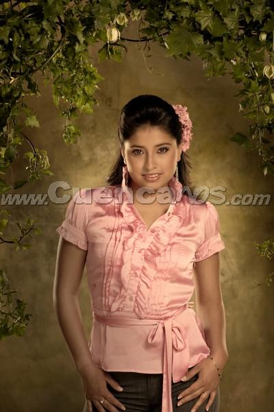 Reina del Azuay 2008 .- Carolina Chocho, Candidata representante al Cantón El Pan en el el acto de gala de elección de la nueva Reina del Azuay 2008, el cual se realizará el viernes 19 de septiembre en el Auditorio del Banco Central del Ecuador, en Cuenca, a las 20:00.