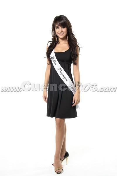 Miss Continente Americano 2008 .- Son 21 bellas mujeres de distintos países de Hispanoamericana que buscarán la corona de Miss Continente Americano, el cual tendrá lugar en Guayaquil, Ecuador el próximo 6 de septiembre . Entre ellas, la representante de Paraguay Gisela Riveros, quién cuenta con el Título de belleza: Primera Princesa de Belleza Paraguaya 2008. Tiene 18 años de edad y su Estatura es de 1.74 y sus medidas son 88-58-90