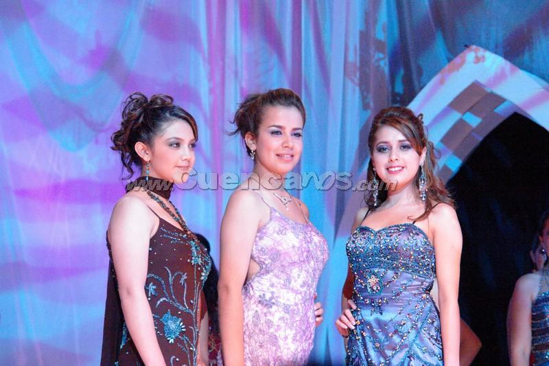 Reina del Azuay 2008 .- Las 3 finalistas Erika Tirado, Belén Arichávala y Karina Peralta