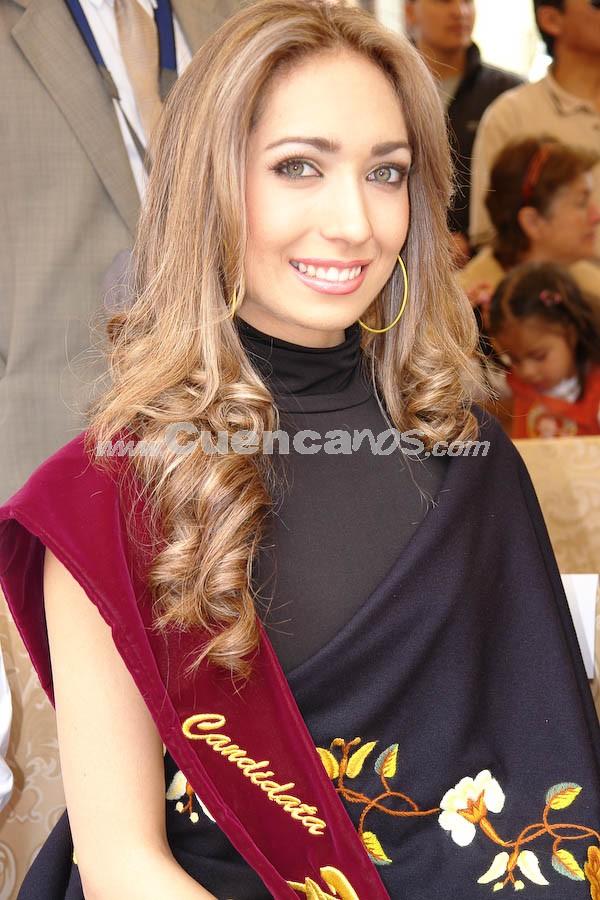 Daniela Cabrera .- Daniela Cabrera, en la Presentación a las Candidatas a Reina de Cuenca 2008 en el Parque de María Auxiliadora, luego del desfile de autos clásicos