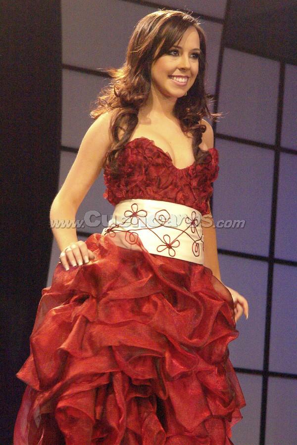 María Dolores Vizcaíno .- Candidata a Reina de Cuenca 2008, en el evento que se realizó en el Centro de Convenciones del Mall del Río, el día Viernes, 24 de octubre de 2008 a las 21h00.