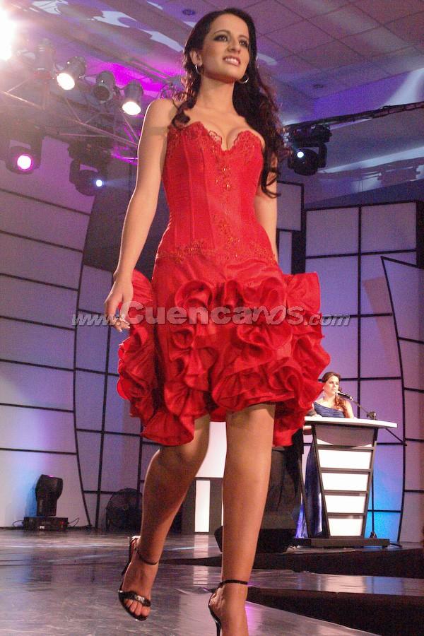 Tatiana Catalina Torres  .- Candidata a Reina de Cuenca 2008, en el evento que se realizó en el Centro de Convenciones del Mall del Río, el día Viernes, 24 de octubre de 2008 a las 21h00.