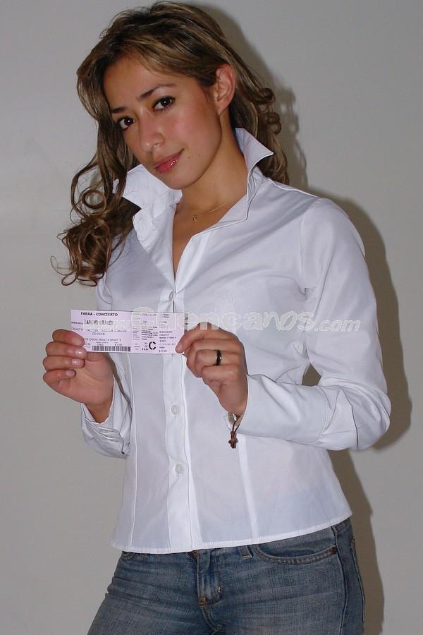 Lucia Narcisa Morocho .- Lucia Narcisa Morocho participó y gano una entrada para la Farra Concierto de Chichi Peralta para festejar las Fiestas de Cuenca 2008.