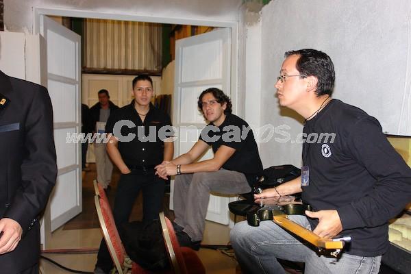 Rock Sinfónico Cuenca 2008 .- Parte de la agrupación Basca, previo a la presentación del concierto de Rock Sinfónico realizado el día 14 de noviembre en el centro de convenciones del Mall del Río