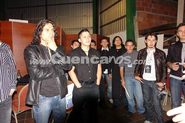 Rock Sinfónico Cuenca 2008 .- Integrantes de las distintas agrupaciones que se presentaron la noche del 14 de noviembre en el concierto de Rock Sinfónico; realizado en el Centro de Convenciones del Mall del Río