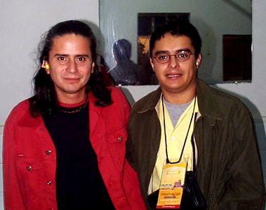 Concierto Pablo Herrera en Cuenca .- Momentos previos al concierto Pablo Herrera junto a Enrique Rodas de Cuencanos.com