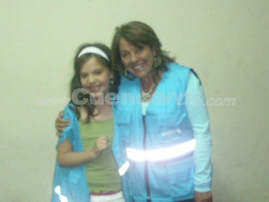 Michelle Cordero .- Michelle junto a Conny Carranza