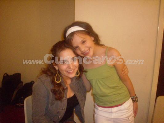 Michelle Cordero .- Michelle junto a Mirella Cesa