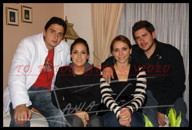 Cumpleaños Alexandra Donoso .- Daniel Cueva, Silvia Torres, Fernanda Vintimilla y Pedro Maldonado