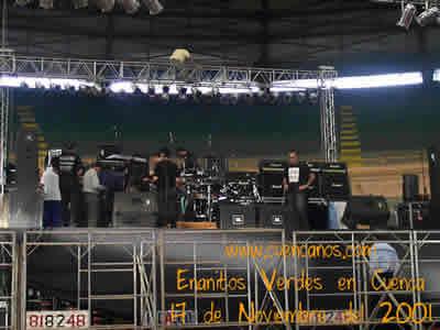 Concierto de Enanitos Verdes .- 'Cuencanos.com estuvo presente en el show que los Enanitos Verdes dieron en Cuenca, aquí vemos momentos previos al concierto'