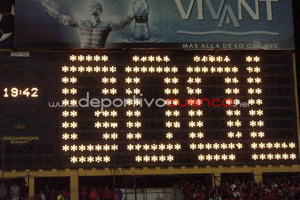 Deportivo Cuenca vs Boca Juniors 23 de Abril del 2009 .- En el estadio Alejandro Serrano Aguilar de la ciudad de Cuenca se realizo el Partido entre Deportivo Cuenca y Boca Juniors para la Copa Libertadores de América 2009 donde el equipo colorado derroto por la minina diferencia al Equipo Argentino.