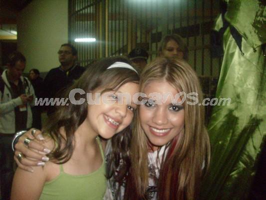 Michelle Cordero .- Michelle Cordero junto a Jhoanna Carreño