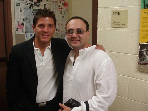 Reportero de al Rojo Vivo New York junto a Tyrone Vintimilla .- Tyrone Vintimilla