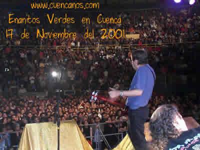 Concierto de Enanitos Verdes .- A finales de 1995 y principios del 96 Los Enanitos Verdes continuaron la preparación de su octavo álbum. 'Guerra Gaucha'