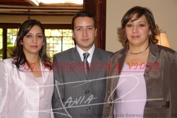 Bodas de Rubì Roque Balarezo, Azucena Manzano .- Rocìo, Pedro y Priscila Balarezo-HIJOS