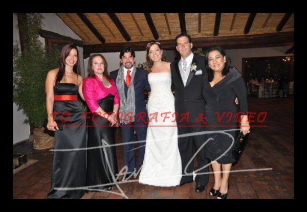 Boda Marìa del Pilar Flores y Nicolàs Tardito .- Darina Cabrera, Thalìa Flores, Carlos Vera,  Marìa del Pilar Flores, Nicolàs Tardito, Tania Tinoco-