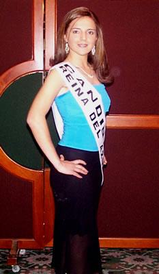 Presentación de las Candidatas a Reina del Azuay .- Adriana Zúñiga Pacheco Reina del Azuay 2004