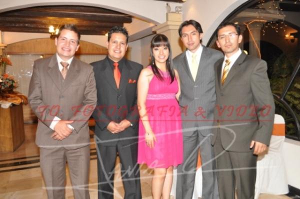 Boda Diego Abad y Andrea Delgado .- Diego Delgado, Giovanny Delgado, Marìa Elena Abad, Patricio Abad, Carlos Abad