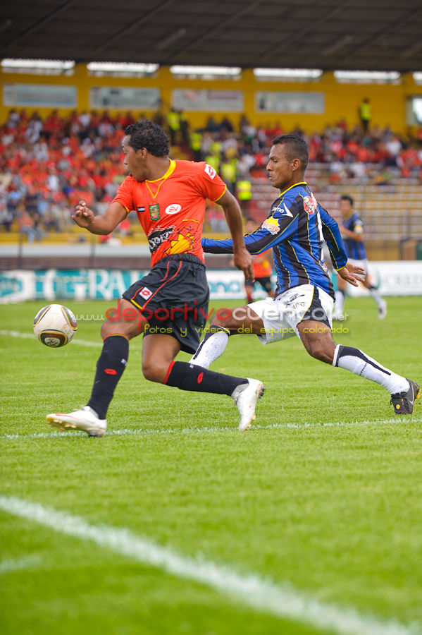 Deportivo Cuenca vs Independiente 28 de Febrero del 2010 .- En el estadio Alejandro Serrano Aguilar se jugó el partido entre nuestro equipo rojo contra Independiente donde logramos ganar por una diferencia de 3 a 0.