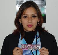 Ganadora de una entrada al concierto de Hombres G .- Michelle Teresa Pazmiño Rivera participó y ganó una entrada al concierto de Hombres G en Cuenca
