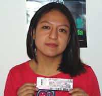 Ganadora de una entrada al concierto de Hombres G .- Verónica Catalina Salinas Bustán participó y ganó una entrada al concierto de Hombres G en Cuenca