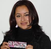 Ganadora de una entrada al concierto de Hombres G .- María Isabel Tapia Méndez participó y ganó una entrada al concierto de Hombres G en Cuenca