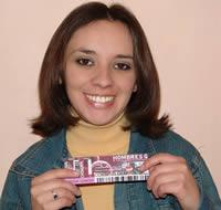 Ganadora de una entrada al concierto de Hombres G .- María Gabriela Bravo Toledo participó y ganó una entrada al concierto de Hombres G en Cuenca