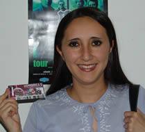 Ganadora de una entrada al concierto de Hombres G .- Tania Marcela Ochoa Brito participó y ganó una entrada al concierto de Hombres G en Cuenca