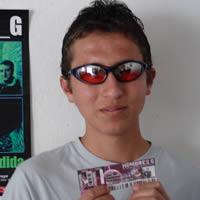 Ganador de una entrada al concierto de Hombres G .- José Luís Gomezcoello Vásquez participó y ganó una entrada al concierto de Hombres G en Cuenca