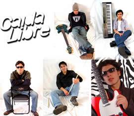 Caida Libre .- Caida Libre agrupación cuencana formada por Adrián Calle, voz, Christian Munive, teclados, Andrés Riera, guitarras, Diego Pacheco, batería, Miguel Merchán, bajo.