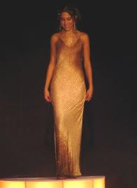 Silvia Vélez candidata a Reina de Cuenca 2004 .- Silvia durante su presentación en traje de noche