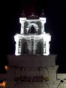 Iglesia de Todos Santos .- Desde la fundación de Cuenca fue la ermita llamada del Usno o Iglesia de San Marcos.  Fue el primer templo que se construyó.  Aquí se llevó a cabo la primera misa, la construcción era de mediana amplitud, poseía techo de paja, el suelo terraplenado y el altar muy sencillo.