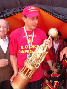 Deportivo Cuenca Campeón Temporada 2004 .- Raúl Noriega defensa del Club durante la temporada 2004