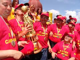 Deportivo Cuenca Campeón Temporada 2004 .- Ex dirigente y ex jugadores que fueron parte de la historia del Club Deportivo Cuenca estuvieron presentes durante la premiación al Campeón del Fútbol Ecuatoriano.