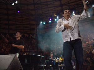 Concierto Franco de Vita en Cuenca .- Franco de Vita y Jeremías en Concierto Mil y Una Historias