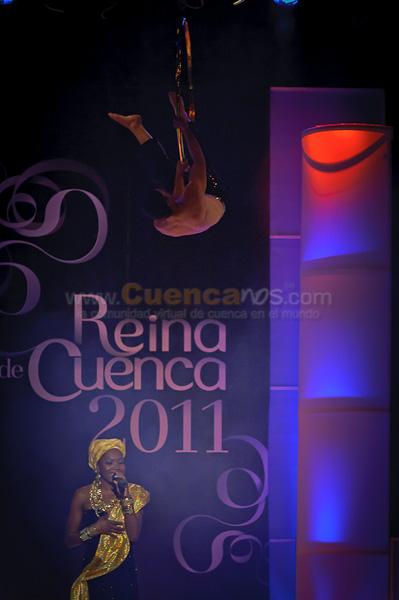 Elección Reina de Cuenca 2011 .- El 20 de Octubre del 2011 se realizo la elección de Reina de Cuenca 2011, donde 8 hermosas candidatas participaron por la corona morlaca, las candidatas fueron Cristina Vasquez, Emilia Stael, Nataly Abril, Cristina Vintimilla, Grace Jimenez, Pascale Teillard, Nicholle Carrión, Stephani Barzallo.  En el Evento participaron David Cañizares junto a Michelle Cordero y mas músicos interpretando una hermosa canción que hablaba de lo orgulloso de ser Ecuatoriano además Mirella Cesa nos deleito con sus clásicas y nuevas Canciones.  Luego María del Carmen Velásquez Reina de Cuenca 2010 dio sus palabras de Despedida y Agradecimiento al concluir su año de Reinado y por ultimo las candidatas contestaron preguntas de esta forma dio oportunidad a los jueces de tomar la decisión final la cual fue  Pascale Marie Teilard Alvarado ganó el título de Virreina de Cuenca y María Cristina Vintimilla como Reina de Cuenca 2011 además ganó el título de Señorita Vivan y Señorita Amistad.