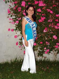 Elección de la Reina del Azuay 2005 .- Valeria Patricia Orellana, representante del Cantón Gualaceo