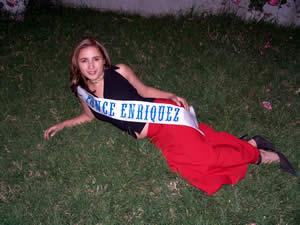 Elección de la Reina del Azuay 2005 .- Ligia Maldonado, representante del Cantón Ponce Enrique