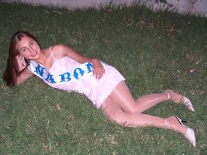 Elección de la Reina del Azuay 2005 .- Mariana Ochoa, representante del Cantón Nabón
