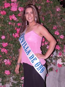 Elección de la Reina del Azuay 2005 .- Mariela Cárdenas, representante del Cantón Sevilla de Oro