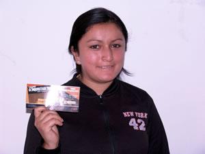 Ganadores de Entradas al Concierto con Alex Campos y Misión Vida en Cuenca .- María de Lourdes Aguilar participo y ganó una entrada al Concierto con Alex Campos y Misión Vida en Cuenca