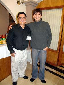 Pamela Cortés en Cuenca .- Javier Pimentel, junto a Enrique Rodas de Cuencanos.com