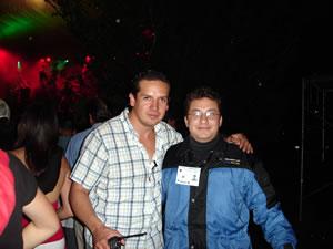 Vilma Palma y Vampiros .- Claudio Carvallo junto a Mauricio Arévalo de www.Cuencanos.com, empresa que no podía estar ausente en grandes eventos que llegan a Cuenca.