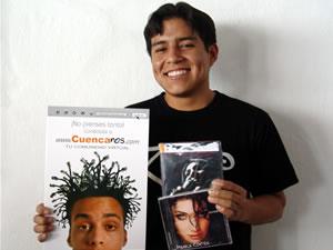 Ganadores de Dvd, Cd y Posters autografiados de Pamela Cortéz .- Juan Victor Pañi Chalco participo y ganó un Dvd, Cd y Poster autografiados de Pamela Cortéz