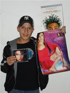 Ganadores de Dvd, Cd y Posters autografiados de Pamela Cortéz .- Israel Montero Tapia participo y ganó un Dvd, Cd y Poster autografiados de Pamela Cortéz