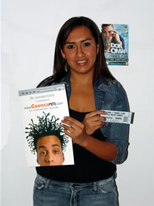 Ganadores de Entradas al Concierto de Don Omar en Cuenca .- Eliana Priscila Castro Zeas participo y ganó una entradas al Concierto de Don Omar en Cuenca